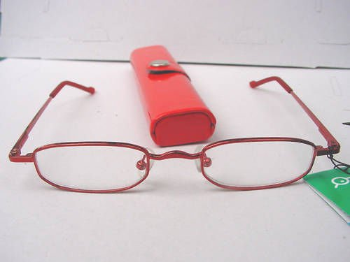 READING GLASSES SPRUNG ARM & RED CASE +1.5 C7