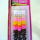 2 PACKS OF 45 MIXED SIZE & COLOUR HAIR BANDS FOR GIRLS & ADULTS