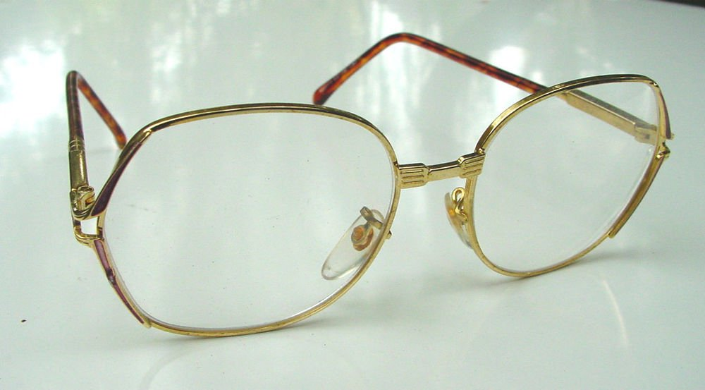 4 PAIRS RETRO READING GLASSES GOLD METAL +1.5