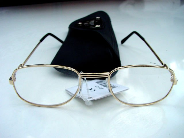 NEW READING GLASSES SILVER METAL FRAMES + CASE +3.0 M141