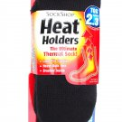 ONE SIZE DARK GREY WOMENS SOCK SHOP HEAT HOLDERS THERMAL SOCKS TOG RATING 2.3