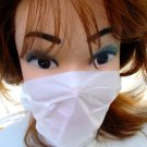 NEW 24 x DISPOSABLE DUST FACE MASKS UNISEX WHITE 2-PLY PAPER CLEANING DIY MASK