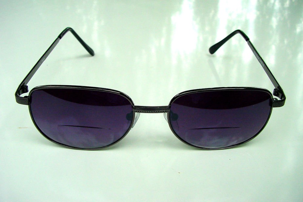 BIFOCAL LARGE BLACK READING SUNGLASSES GLASSES +3.0