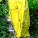 PVC OVERTROUSERS WATERPROOF RAINWEAR YELLOW LARGE UNISEX DESIGN B5C