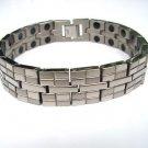 MEN'S TITANIUM MAGNETIC THERAPY BRICK DESIGN BRACELET