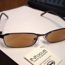 STYLISH TINTED READING GLASSES BRONZE +3.0 R1800