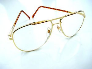 QUALITY AVIATOR STYLE SPRUNG ARM READING GLASSES GOLD METAL FRAME +1.5 premier M