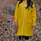 MENS & LADIES UNISEX YELLOW PVC RAINCOAT MAC COAT CAGOULE FESTIVAL CAMPING PR1