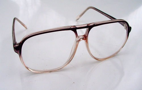 LARGE RETRO STYLE TWO TONE BROWN SQUARE AVIATOR SHAPE READING GLASSES +1.5 EURO