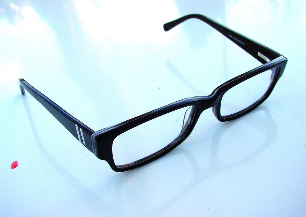 CLEAR LENS OPTICAL FRAMED GLASSES SPRUNG ARM BLACK & GREY READING A196
