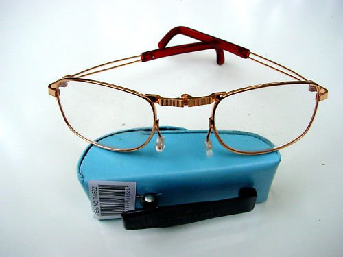 FOLDING READING GLASSES WITH BLUE CLIP CASE +2.0  F2