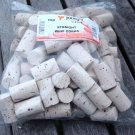 100 NEW UNPRINTED STRAIGHT CORKS FOR WINE WINEMAKING BOTTLE CORK PLAIN