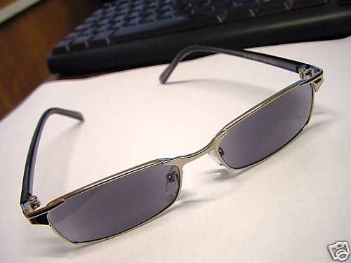 STYLISH TINTED READING GLASSES GUNMETAL + 3.00 R1800