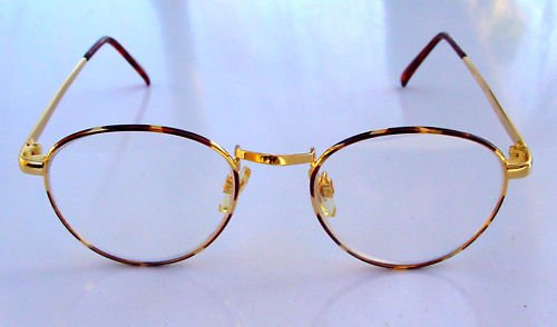 NEW SEMI ROUND READING GLASSES +2.25 GOLD COLOUR bay004