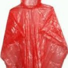 1 WATERPROOF PONCHO CAPE MAC FESTIVALS RED DISPOSABLE EMERGENCY RAINCOAT