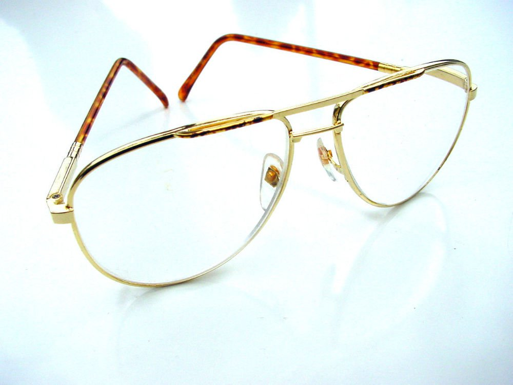 QUALITY AVIATOR STYLE SPRUNG ARM READING GLASSES GOLD METAL FRAME +2.0 premier M