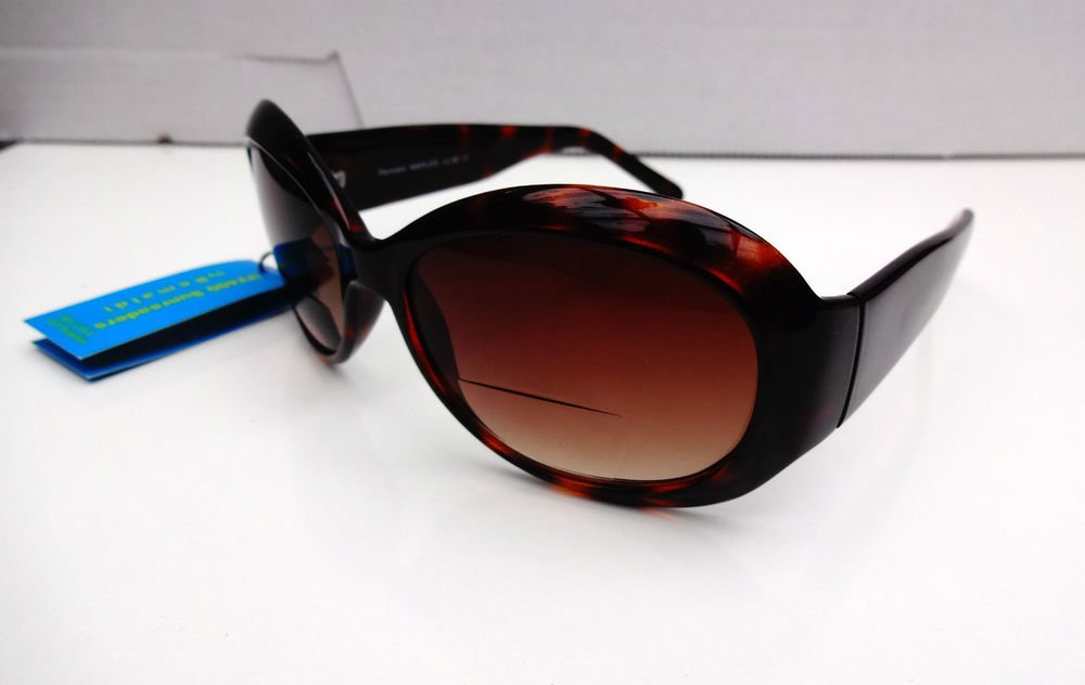 BIFOCAL READING SUNGLASSES GLASSES TORTOISESHELL +3.0 NAPLES