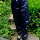 PVC OVERTROUSERS WATERPROOF RAINWEAR SHINY BLACK 2XL UNISEX DESIGN B5C