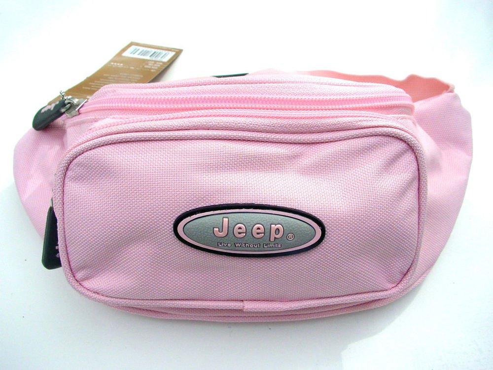 JEEP PRETTY & PRACTICAL PALE PINK BUM HIP BAG HANDBAG