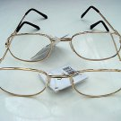 2 PAIRS OF READING GLASSES SILVER METAL FRAMES +3.0 M141