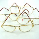 4 x QUALITY AVIATOR STYLE SPRUNG ARM READING GLASSES GOLD FRAME + 2.0 premier M