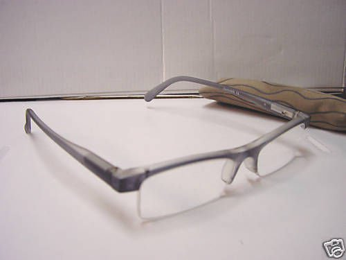STYLISH READING GLASSES SPRUNG ARM  GREY +2.50 D509