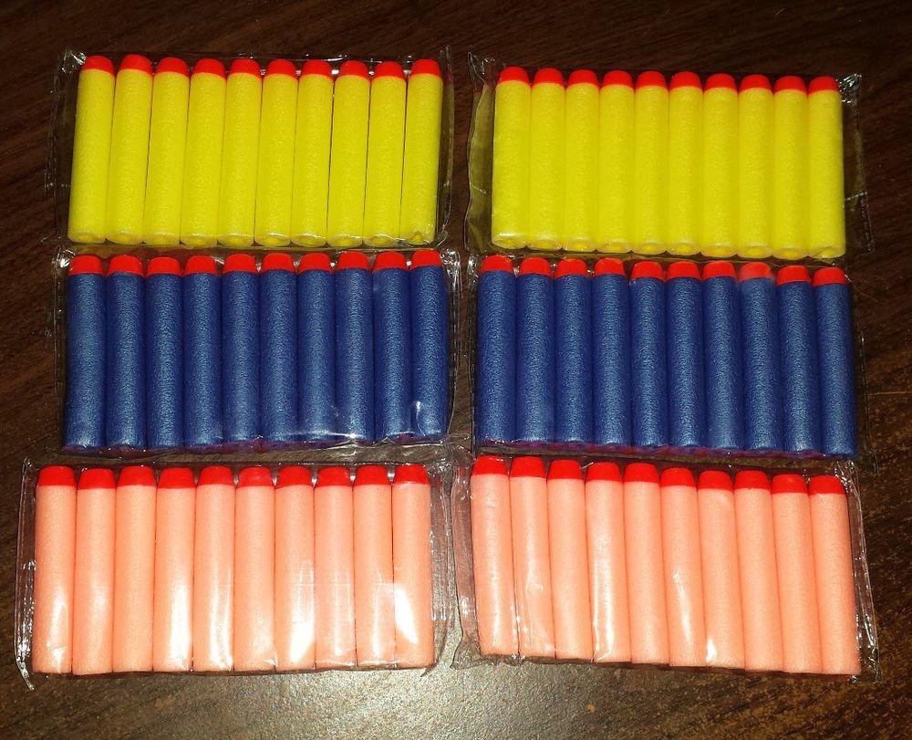 200pcs Nerf Bullet Darts N-STRIKE Toy Guns Orange Blue Yellow FAST USA SHIPPER