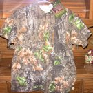 Camouflage Collared 3 Buttondown Tshirts -Trebark Superflauge- NEW- S M L XL XXL