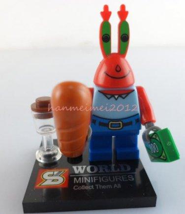 Mr Krabs Crab Minifigure Spongebob Building Block Toy 1pc