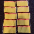 "100PCS 2.56"" Toy Gun Yellow Bullet Darts for NERF N-STRIKE GUNS Brand New"