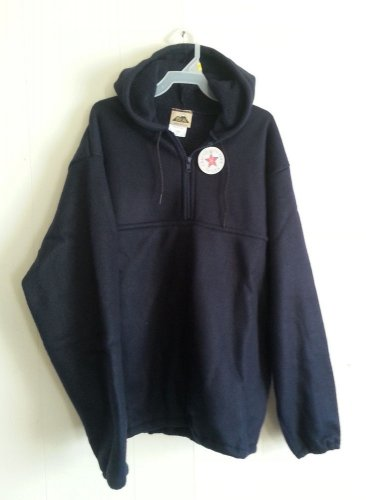 Ideal Navy Blue Fleece Hoodie Sweatshirt 1/3 zip with pouch NEW size S M L XL 2X