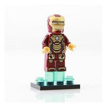 Iron Man Minifigure Super Hero Building Block Toy 1pc FAST USA SHIPPER