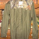 Camouflage/Green Casual Men's Longsleeve Shirt -pockets/collar - size Small