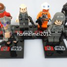 Set of 6 Star Wars Minifigures  Building Block Toys Sebula Lobot Pilots Driver