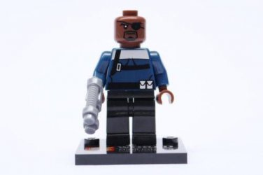 Nick Fury from Avengers Minifigure Super Hero Building Block Toy 1pc USA SHIPPER