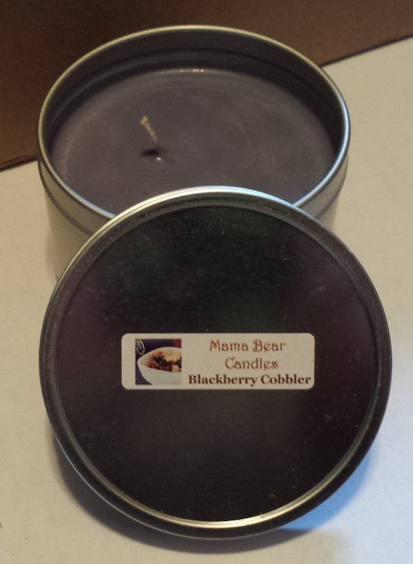 Blackberry Cobbler Soy Candle in 8oz Tin with Lid