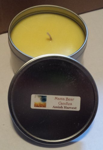Amish Harvest Soy Candle in 8oz Tin with Lid