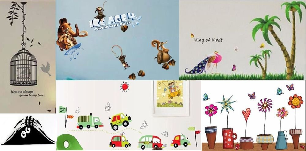 Variety of Removable Vinyl Wall Sticker Art Decal Room Decor Kids Animal Plant