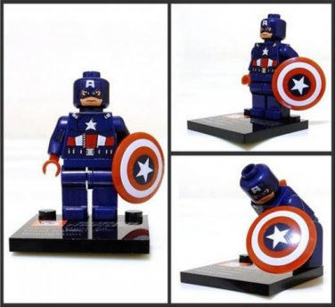 Captain America Minifigure Super Hero Building Block Toy 1pc FAST USA SHIPPER