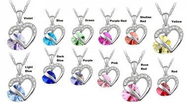 Necklace #9 Rhinestone Heart