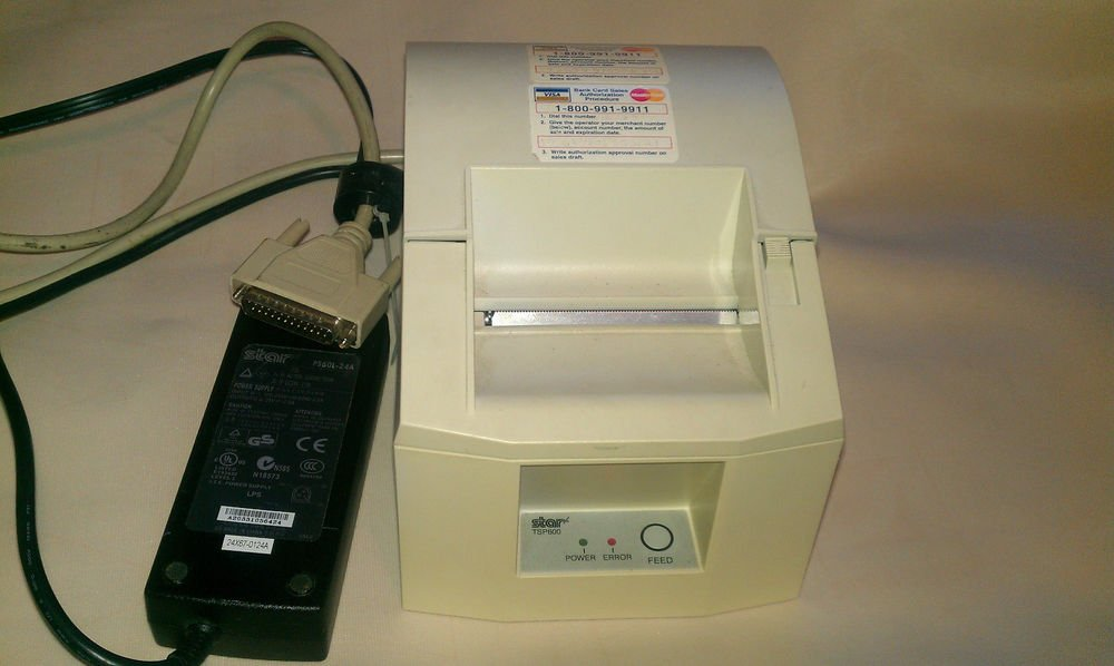 Star Micronics TSP600 Point of Sale Thermal Printer PS60L charger 24v, 2A Used