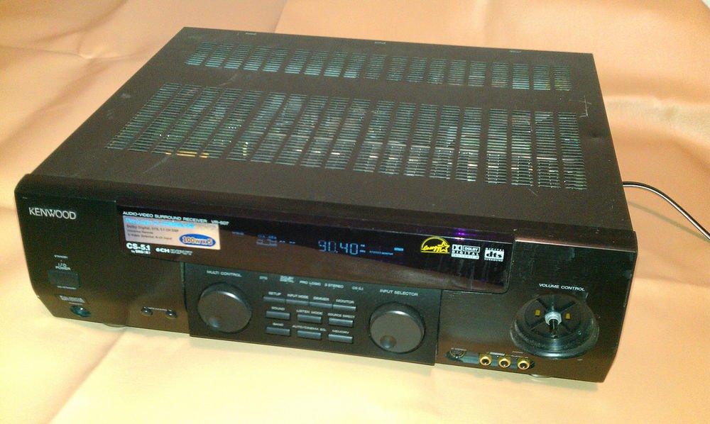 KENWOOD VR-507 Audio-Video Surround Sound Receiver For Parts