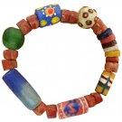 Handmade Fair Trade Stretch Bracelet Recycled Glass Beads