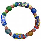 Handmade Recycled Glass Bead Stretch Sister Bracelet Fair Trade