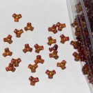 SALE 1 ounce of Vintage acrylic tripoint beads - translucent brown
