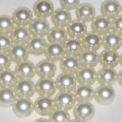 SALE 1 ounce 8mm Vintage faux pearl beads shiny white
