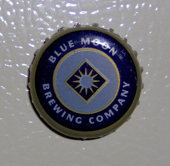 Handmade Recycled beer bottlecap fridge magnet blues