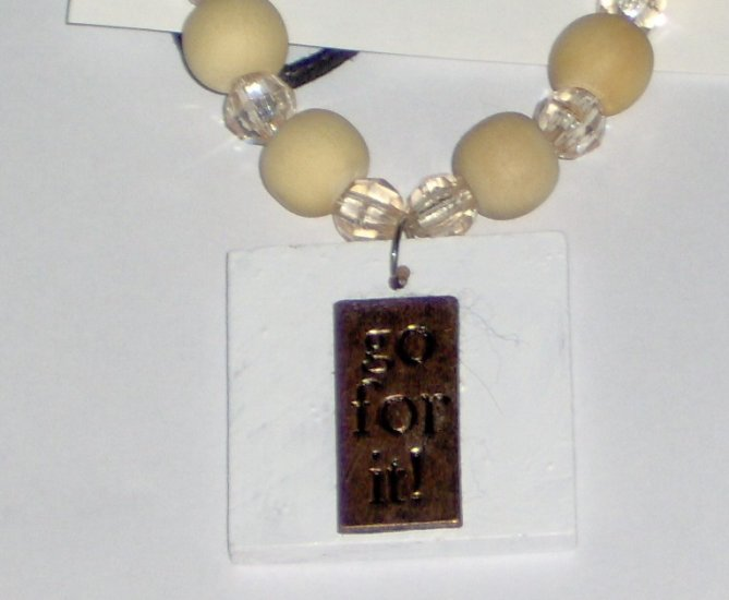 One of a kind necklace Go For It costume jewelry