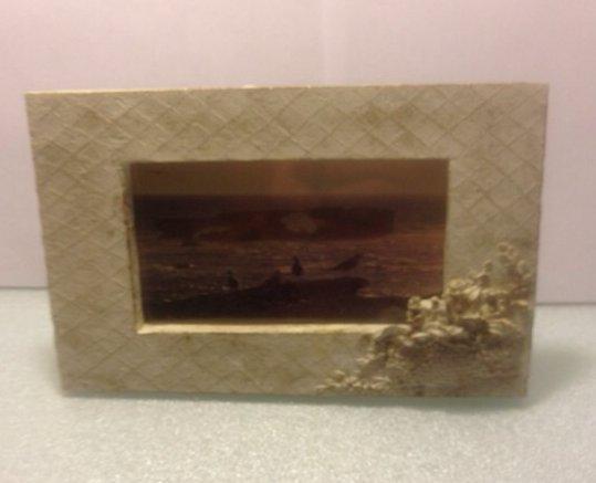Antiqued Photo Frame -#GAR1018