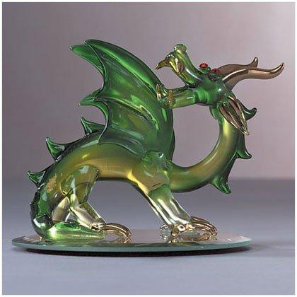 Green Spun Glass Dragon #31065